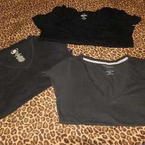 Bundle of Black Tee Shirts